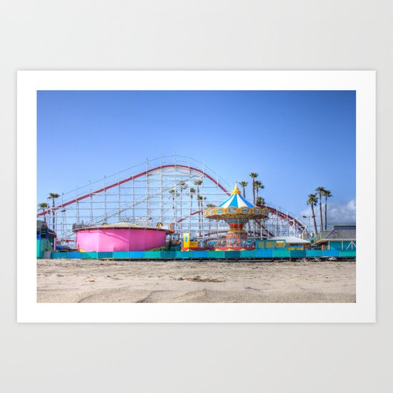 Santa Cruz Summer Art Print