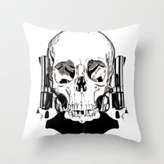 Revolver Beard Throw Pillow