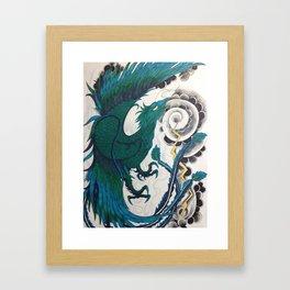 Blue Phoenix (water color) Framed Art Print