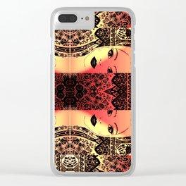 Peekaboo Rouge Clear iPhone Case
