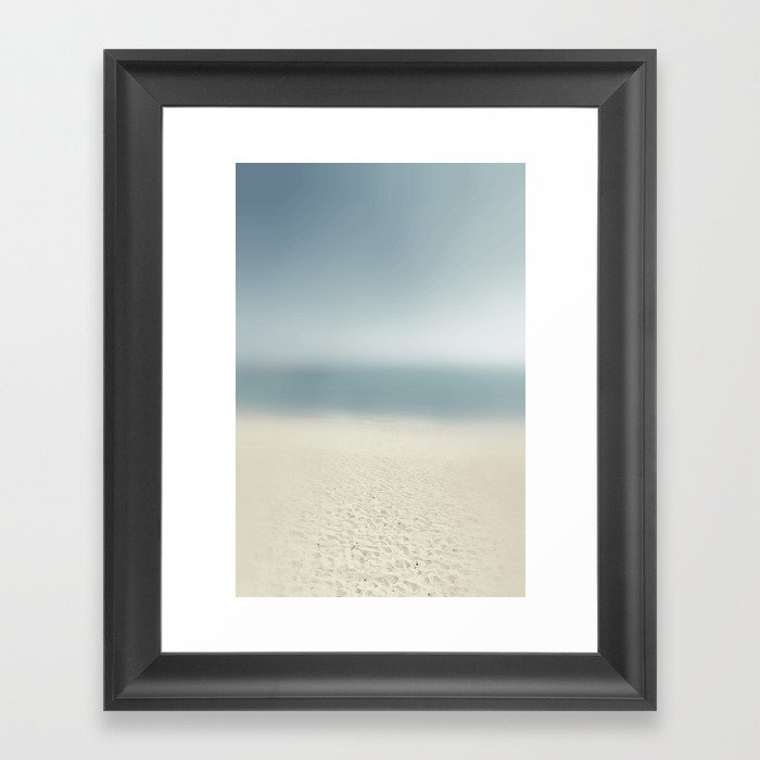 abstract prints on the sand Framed Art Print
