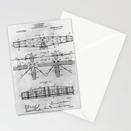 1909 flying machine l Stationery Cards