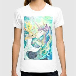 Kelpie unicorn and goldfish T-shirt