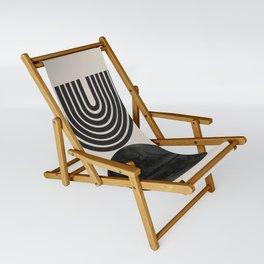 Woodblock Print, Modern Art Sling Chair