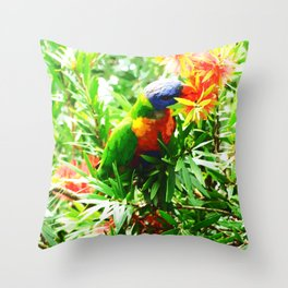 A Bird in the Bush Throw Pillow