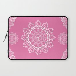 Poetry in Flowers Mandala Grapefruit Pink Laptop Sleeve