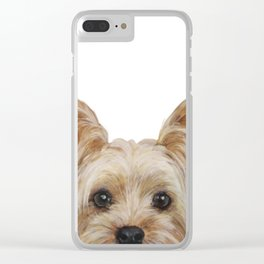 Yorkshire 2 Dog illustration original painting print Clear iPhone Case