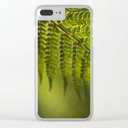 Green fern Clear iPhone Case