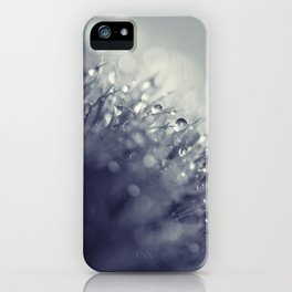 blue with drops iPhone Case