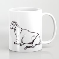 totes Mugs featuring Totes my Goats by bellandpixel