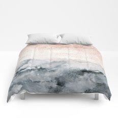 pastel landscape Comforters