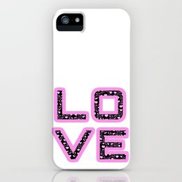 [Glittered Outline Effect Variant] Love's Simply Stylish iPhone Case