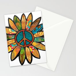 Earthy Peace Flower Stationery Cards