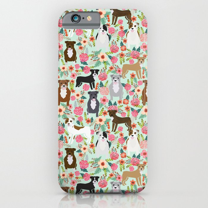pitbull florals mixed coats pibble gifts dog breed must have pitbulls florals iphone case