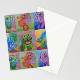 Baby Dragon Funny Monster Comic Illustration Painting for children Nursery decor Stationery Cards