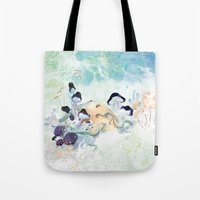 mushroom Tote Bags featuring mushroom by ARTION