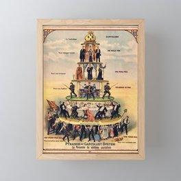 Pyramid of the Capitalist System Framed Mini Art Print