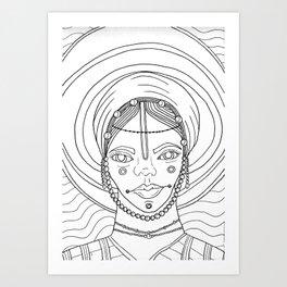 Woodabe Art Print