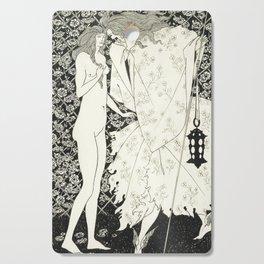 Aubrey Beardsley - The Mysterious Rose Garden Cutting Board