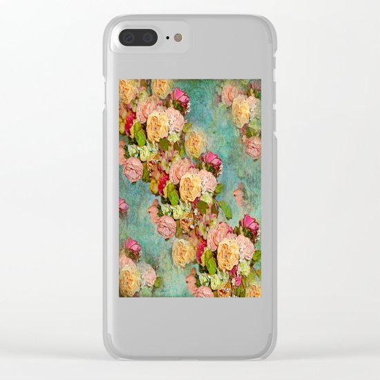 ROSES SO ROMANTIC Clear iPhone Case