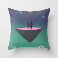 philosophy Throw Pillows featuring 'Dream of Philosophy'  by Thom Easton