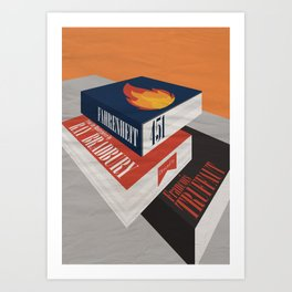 Fahrenheit 451, François Truffaut, minimal movie poster, french film, Ray Bradbury, book Art Print