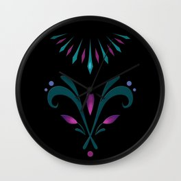 Elsa Embroidery Wall Clock