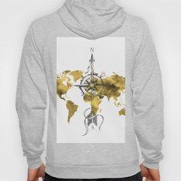 Gold World Map 2 Hoody