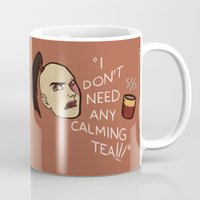 airbender Mugs featuring Calming Tea by Allicyn Draws Sometimes