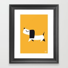 Yelow Dog Framed Art Print