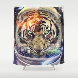 Astro Tiger Shower Curtain