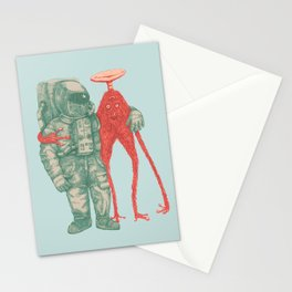 Alien & Astronaut Stationery Cards