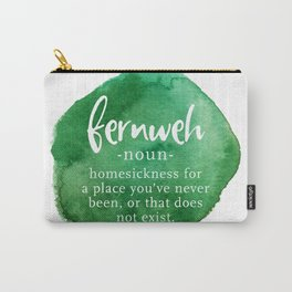 Fernweh Word Nerd - Green Watercolor Carry-All Pouch