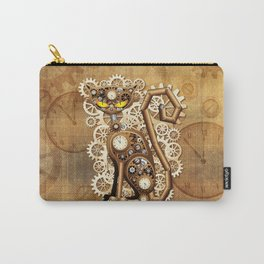 Steampunk Cat Vintage Style Carry-All Pouch