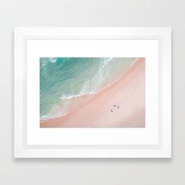Surf Yoga II Framed Art Print