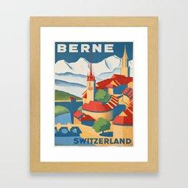 Vintage poster - Berne Framed Art Print