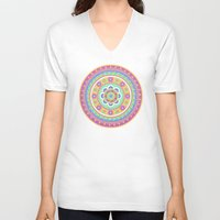 zentangle V-neck T-shirts featuring zentangle by Alapapaju