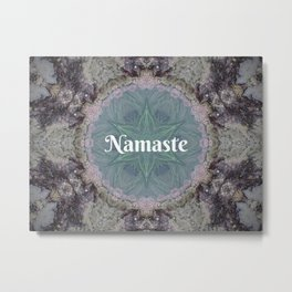 Ocean Nature Art Namaste photograph coastal decor, yoga studio art yogi Metal Print