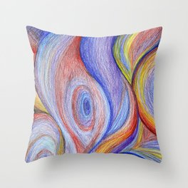 HOT Color blend Throw Pillow