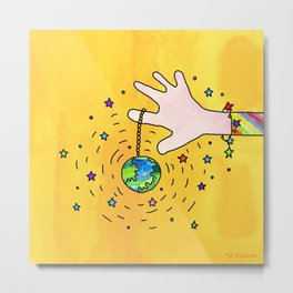 Change the World Metal Print