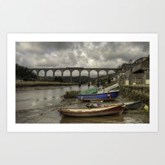 Calstock Viaduct  Art Print