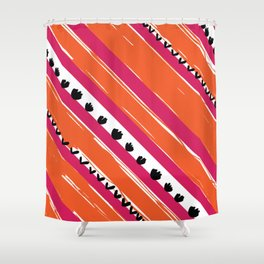 texture lines pattern Shower Curtain