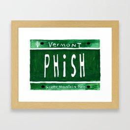 Phish license plate Framed Art Print