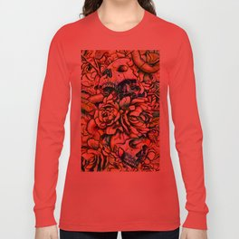 Skulls and Flower Long Sleeve T-shirt