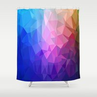 ice Shower Curtains featuring Ice by Tony Vazquez