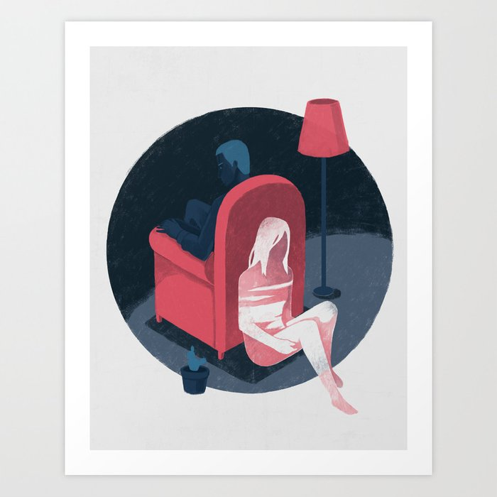 Ghost series 01 Art Print