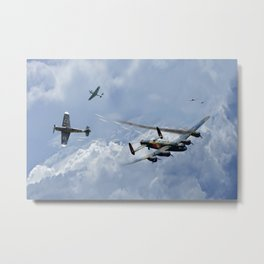 Lancaster Bomber - Wounded Warrior Metal Print