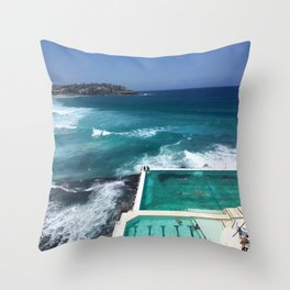 Bondi Icebergs, Sydney, Australia Throw Pillow