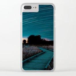 Boardwalk Star Trails Clear iPhone Case