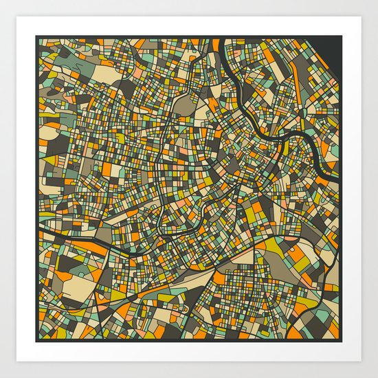 VIENNA MAP Art Print